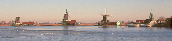 Mills at the Zaanse Schans (North West Netherlands)